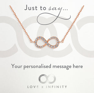 Load image into Gallery viewer, LXI Infinity Pendant Rose Gold