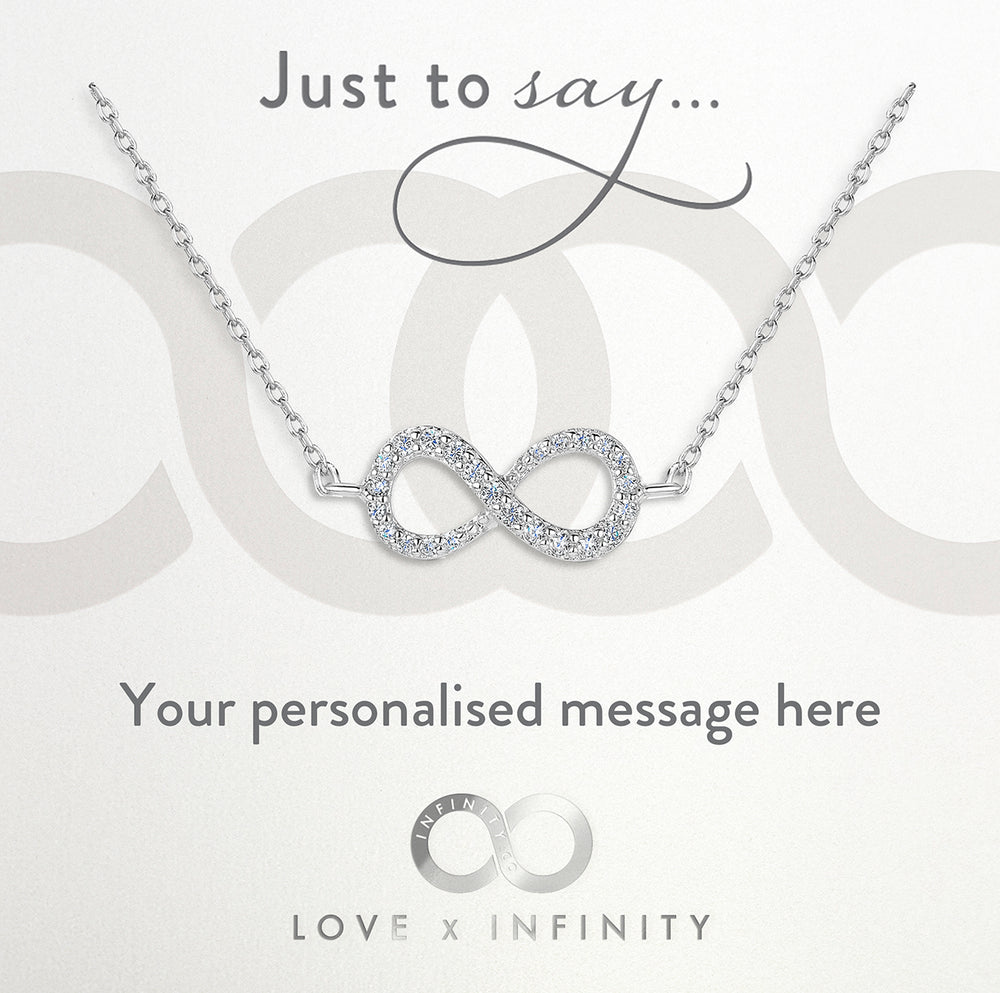 Load image into Gallery viewer, LXI Infinity Pendant Rhodium