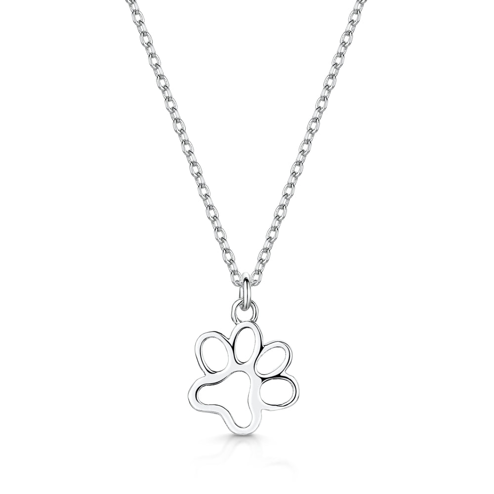 Load image into Gallery viewer, LXI Paw Print Pendant Rhodium