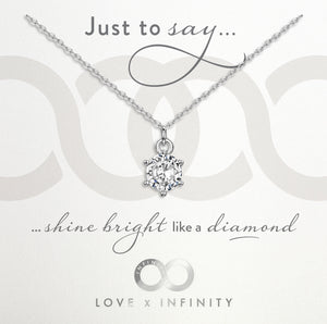 Load image into Gallery viewer, LXI Diamond Pendant- Rhodium