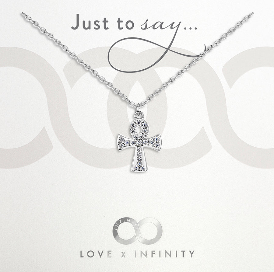 Load image into Gallery viewer, LXI Ankh Pendant- Rhodium