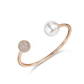 Dianna Double Ball Cuff - White/Rose Gold