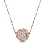 Dianna Snowball Pendant - Rose Gold