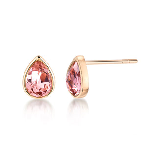 Pear shaped stud earrings- Rose Gold