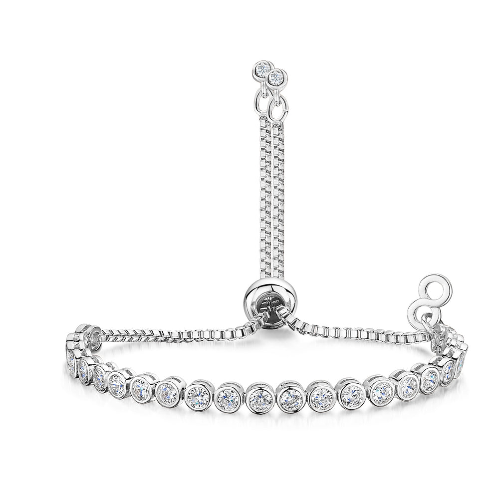 Freya Friendship Bracelet - Rhodium
