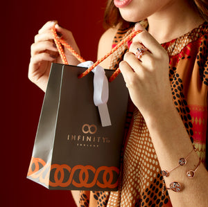 Luxury Infinity branded gift bag
