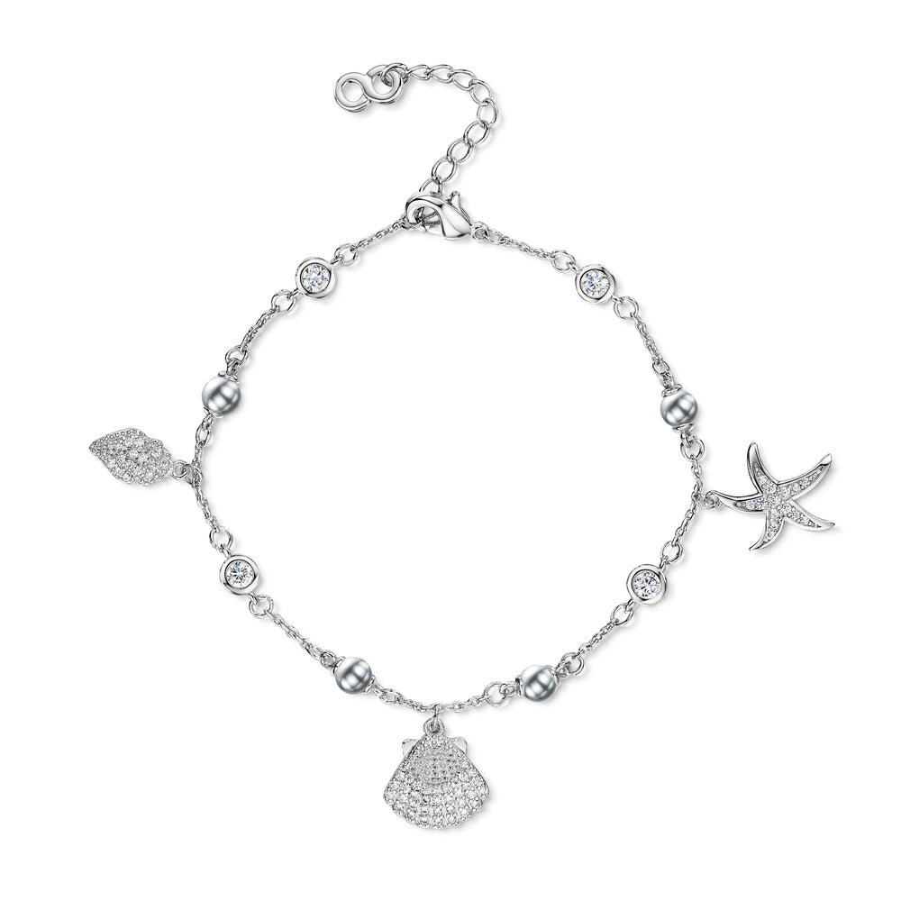 Michelle Bracelet - Rhodium/Clear