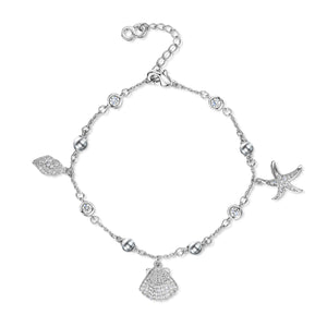 Load image into Gallery viewer, Michelle Bracelet - Rhodium/Clear