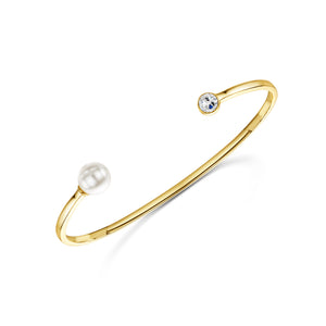 Grace Cuff-Yellow Gold Cuff - Yellow Gold Bracelet - Grace Bracelet