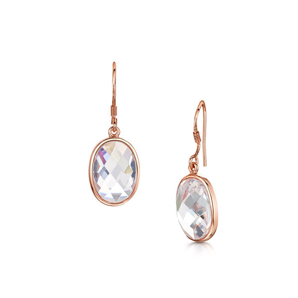Kathryn rose gold drop earrings