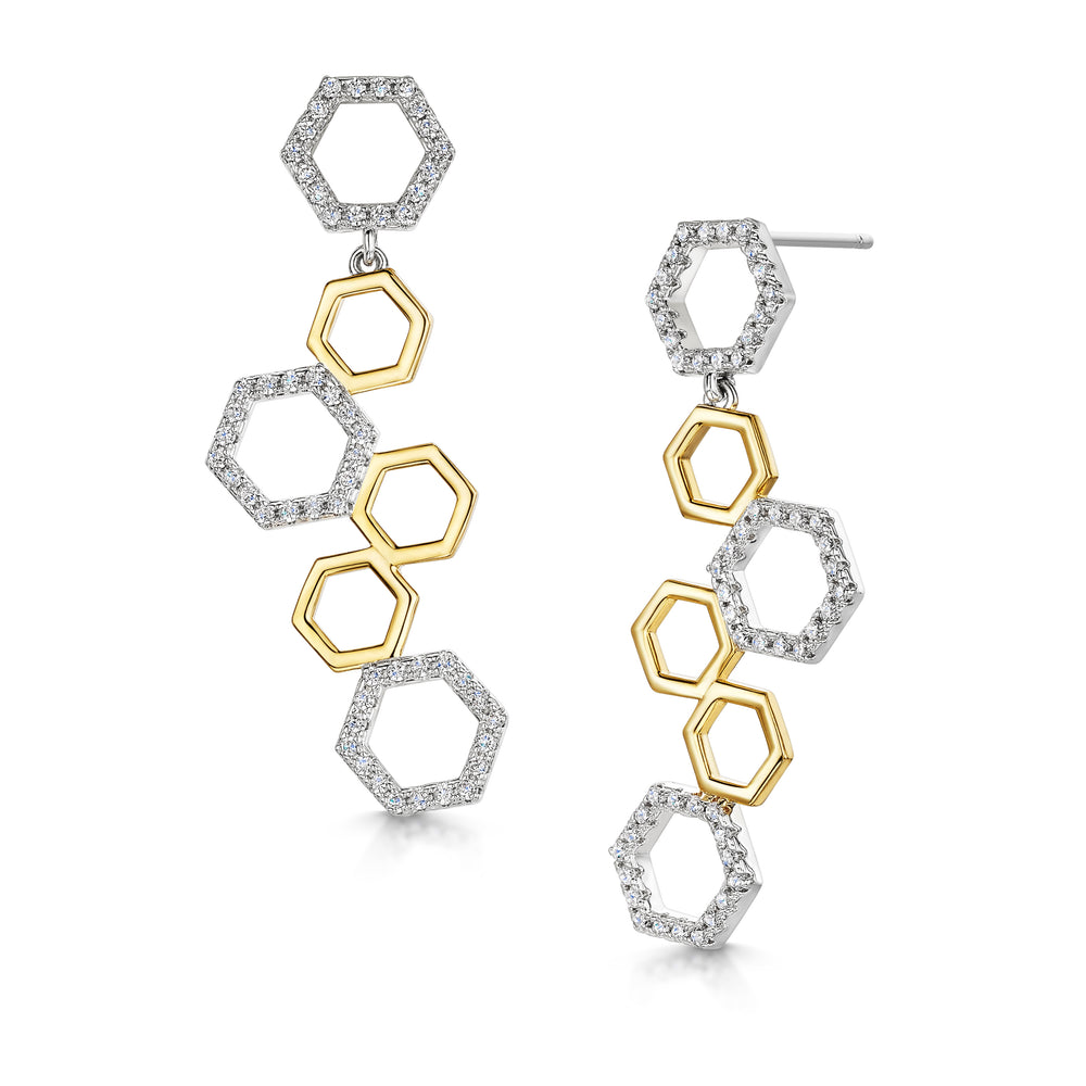 Beatrice Drop Earring - Gold/Rhodium