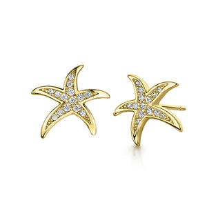 Michelle Earring- 'starfish' - Gold/Clear