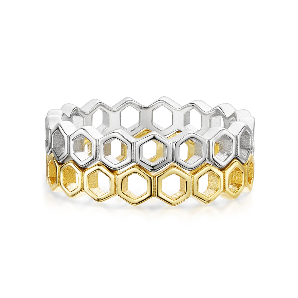 Beatrice Stacker Ring - Rhodium