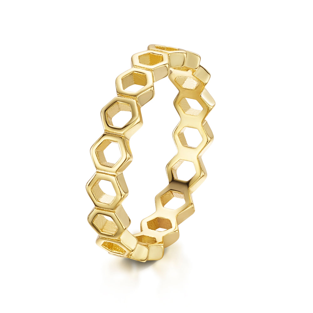 Beatrice Stacker Ring - Yellow Gold