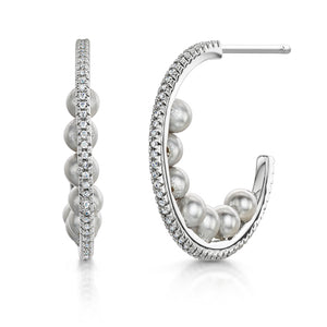 Load image into Gallery viewer, Isla Hoop Earring - Rhodium