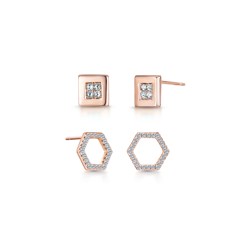Imogen Duo Earring- Rose Gold