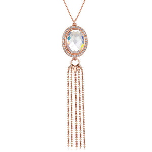 Load image into Gallery viewer, Kathryn tassel necklace rose gold