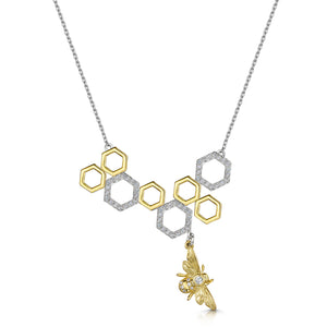 Beatrice Necklace - Gold/Rhodium