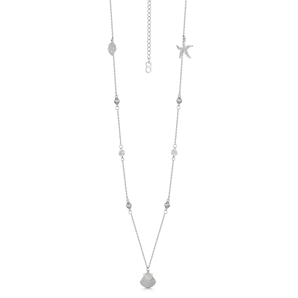 Michelle Necklace - Rhodium/Clear