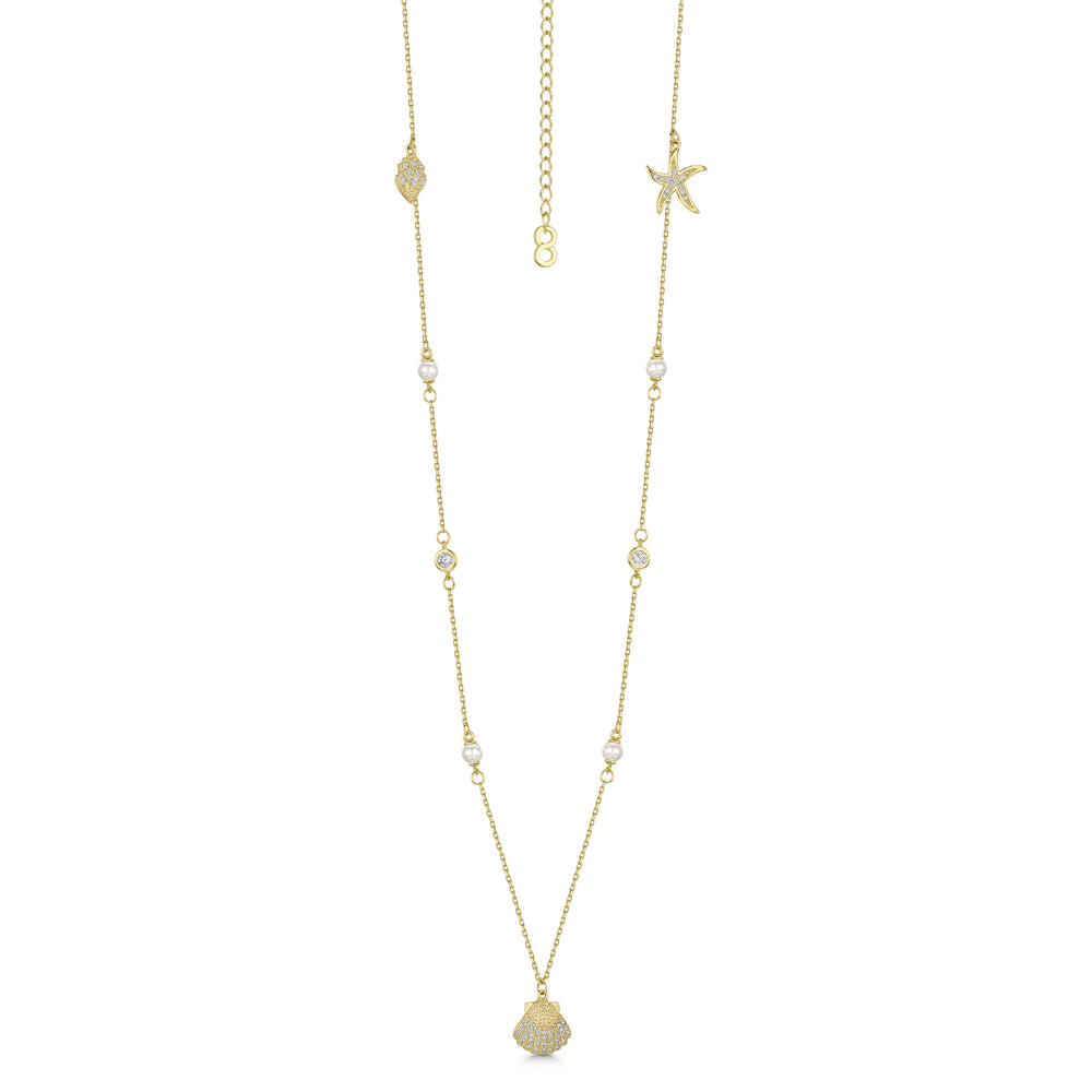 Michelle Necklace - Gold/Clear
