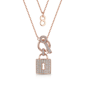 Load image into Gallery viewer, Lola pendant & earring set rose gold