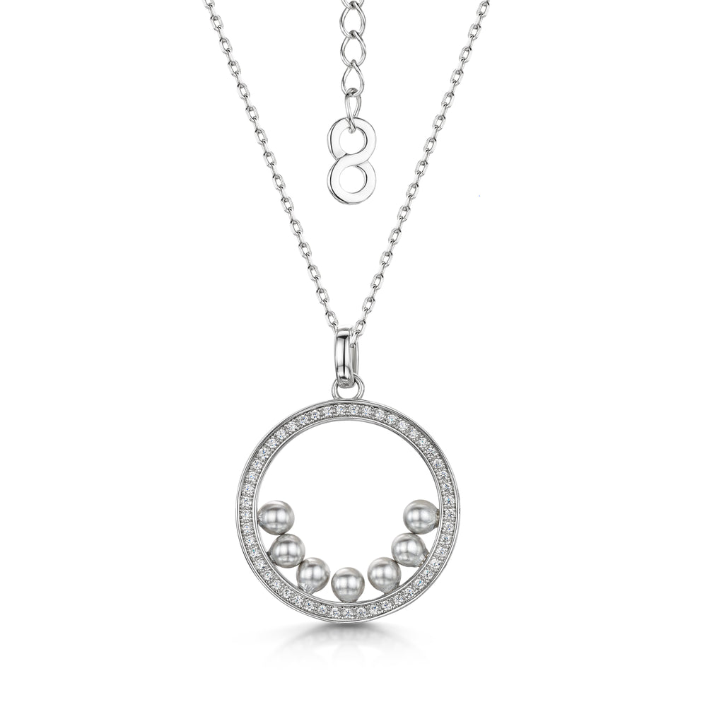 Load image into Gallery viewer, Isla Pendant - Rhodium