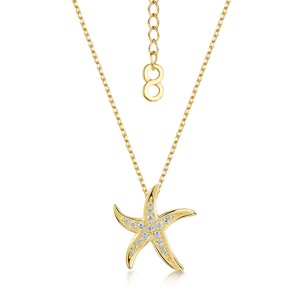 Michelle Pendant - 'starfish' - Gold/Clear
