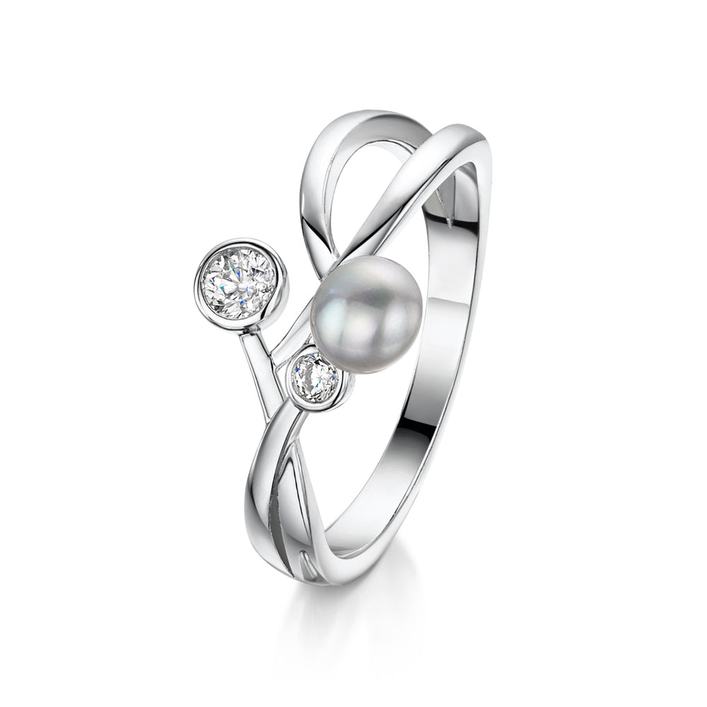 Grace Ring - Silver Ring - Rhodium Ring