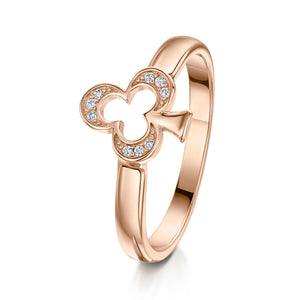 Alice Stacking Ring 'Club' - Rose Gold - S/M/L