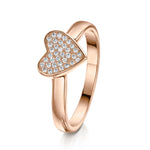 Alice Stacking Ring 'Heart' - Rose Gold - S/M/L