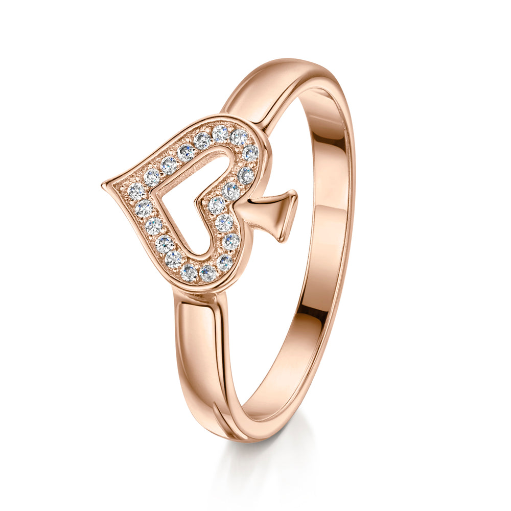 Alice Stacking Ring 'Spade' - Rose Gold - S/M/L