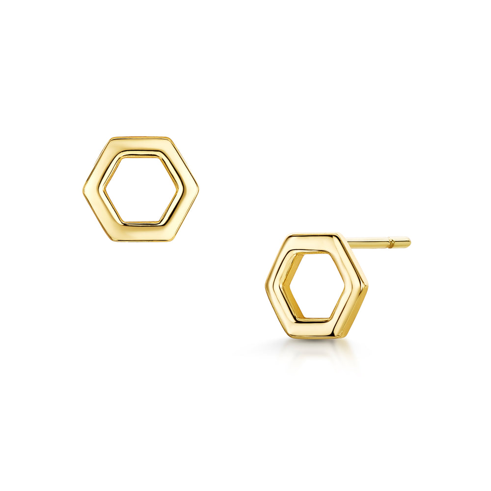 Load image into Gallery viewer, Beatrice Duo Studs - Gold/Rhodium