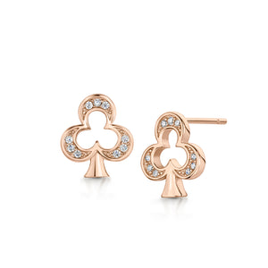 Load image into Gallery viewer, CLUB ROSE GOLD EARRING STUD