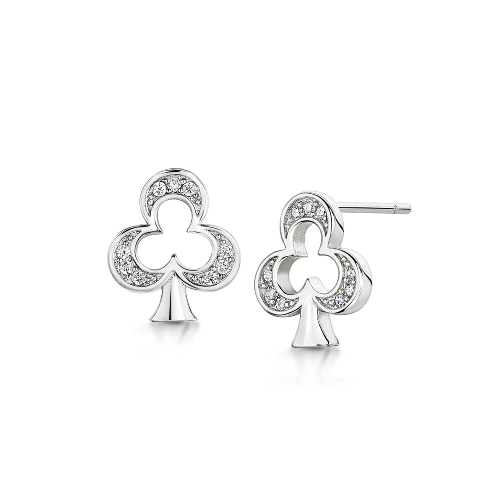 Alice Stud earring 'Club' - Rhodium