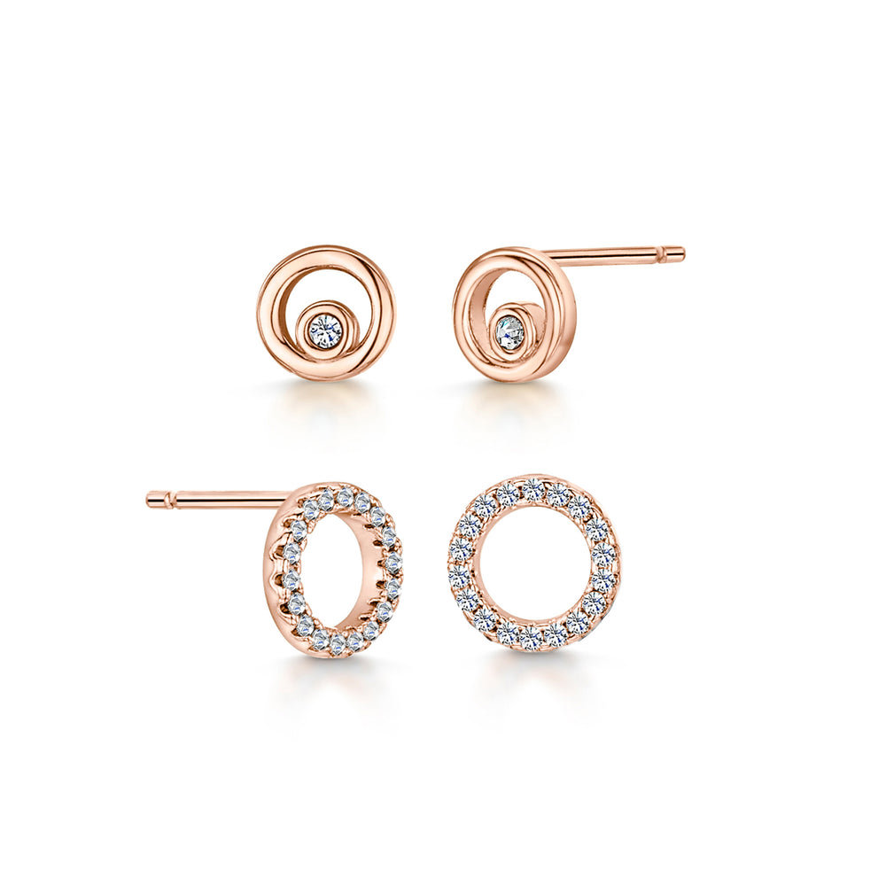 Lexi Duo Earrings Rose Gold