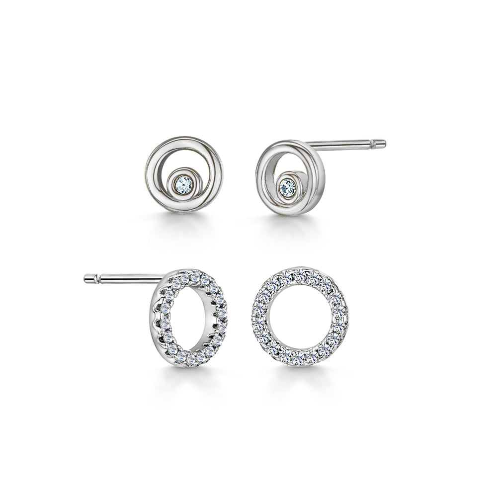 Lexi Duo Earrings Rhodium