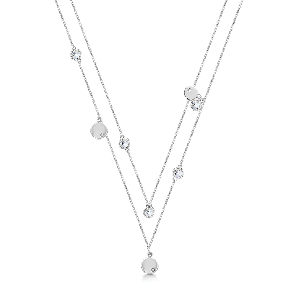 Mia Necklace- Rhodium