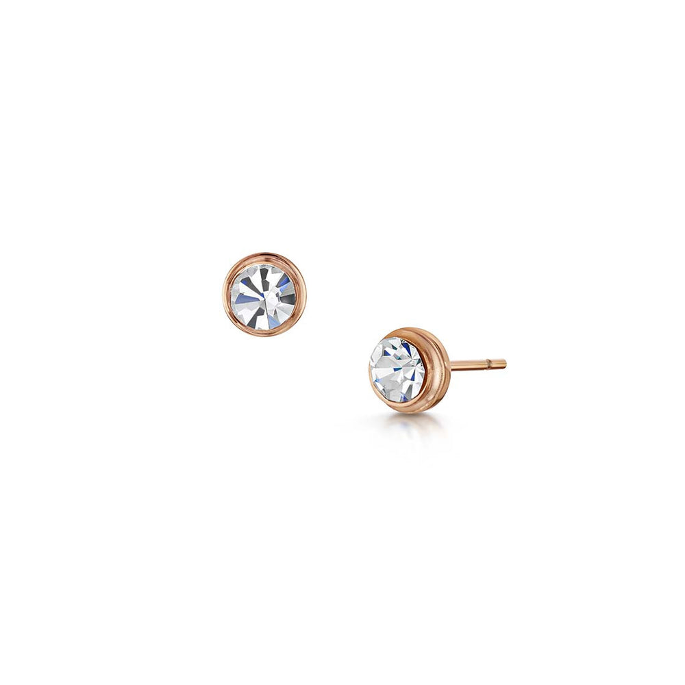 Sienna Stud Earrings - Rose Gold