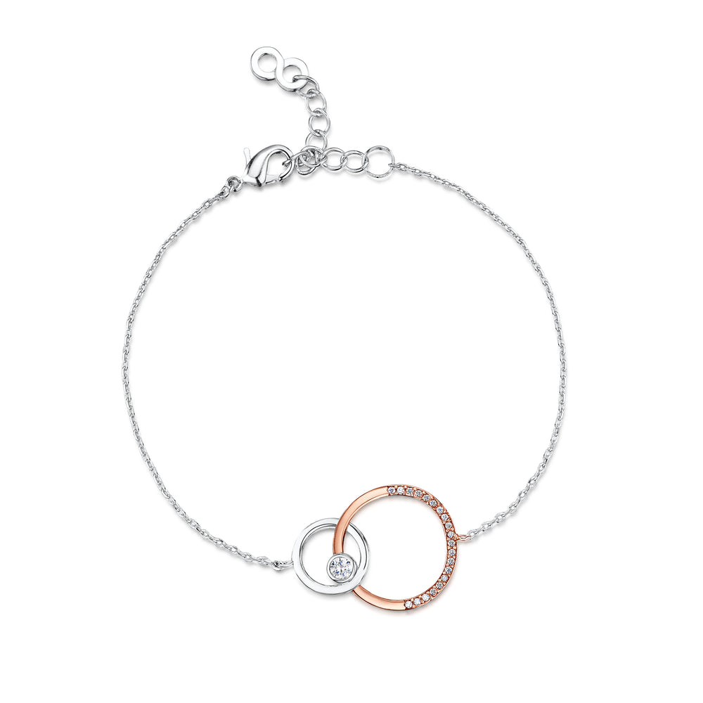 Victoria Bracelet rhodium rose gold