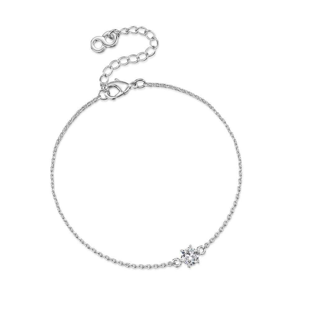 Load image into Gallery viewer, LXI Diamond Bracelet- Rhodium