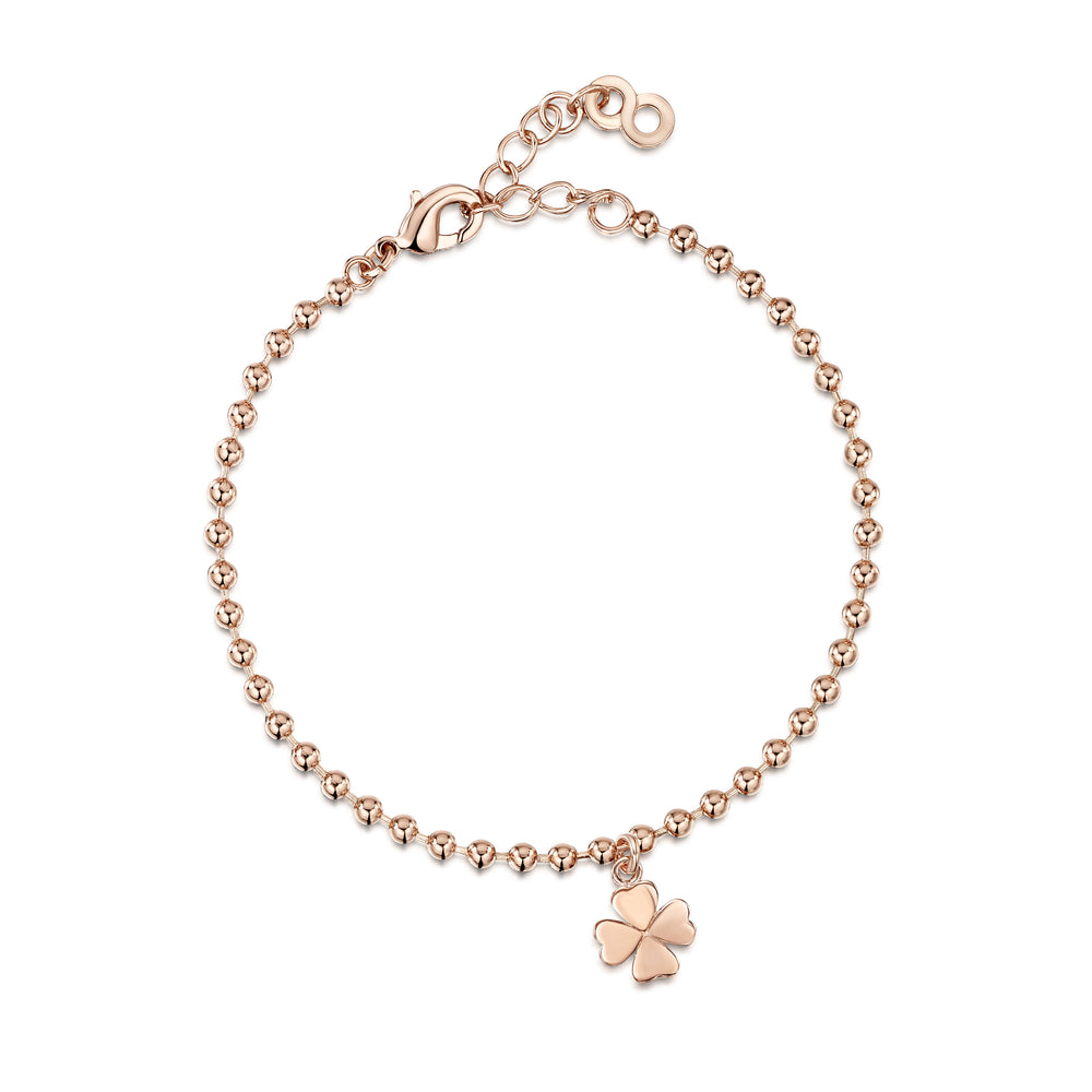 Four Leaf Clover Bracelet - Rose Gold