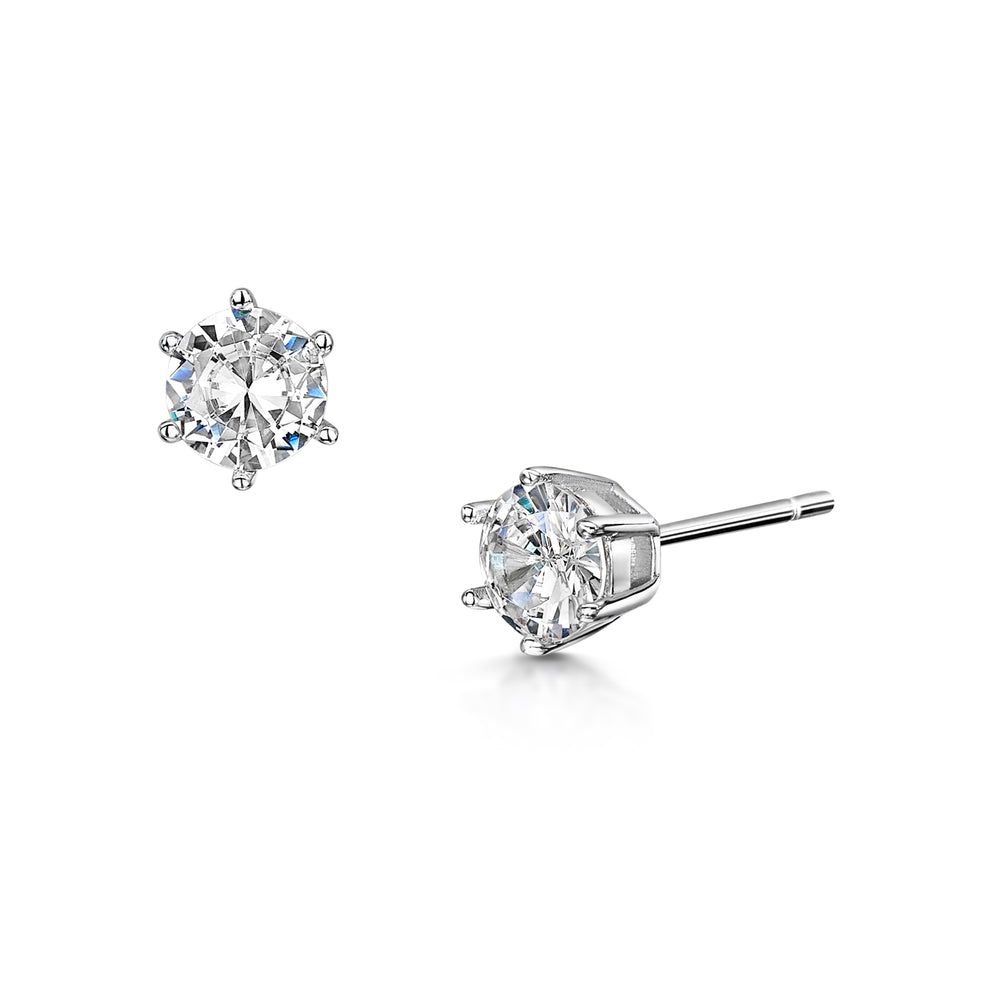 LXI Diamond Studs earrings- Rhodium