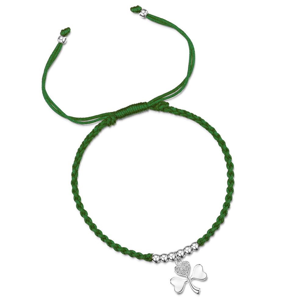 LXI Shamrock Friendship Bracelet- Rhodium