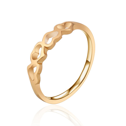 18K Gold Plated Heart Ring - CIEB MOZ