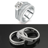 White Gold 2 Rounds Bijoux Rings - CIEB MOZ