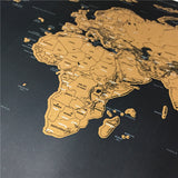 Diamond Scratch Off World Map - CIEB MOZ