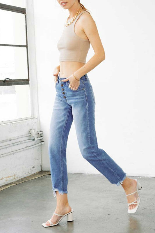 Oakes Straight Leg Denim Jeans