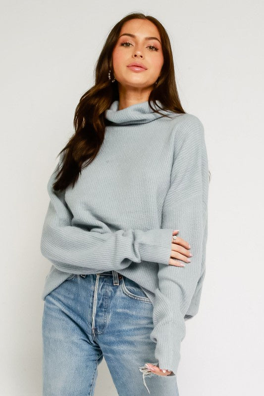 Elle Mock Neck Sweater