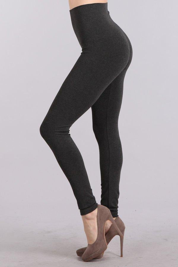 Tummy Tuck Leggings - Charcoal