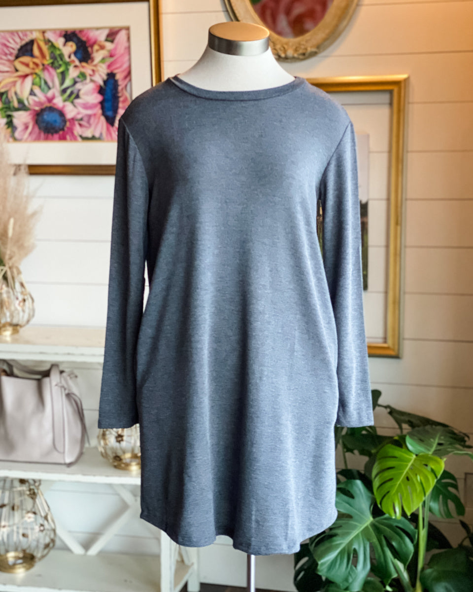 Lexi French Terry T-Shirt Dress